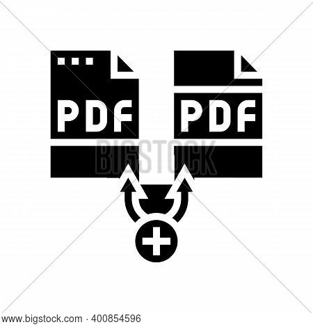 Renewal Pdf Software Glyph Icon Vector. Renewal Pdf Software Sign. Isolated Contour Symbol Black Ill