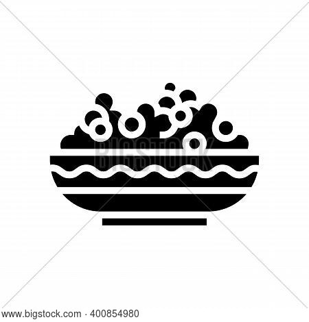 Plate Peas Glyph Icon Vector. Plate Peas Sign. Isolated Contour Symbol Black Illustration