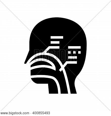 Nasal Passages Glyph Icon Vector. Nasal Passages Sign. Isolated Contour Symbol Black Illustration