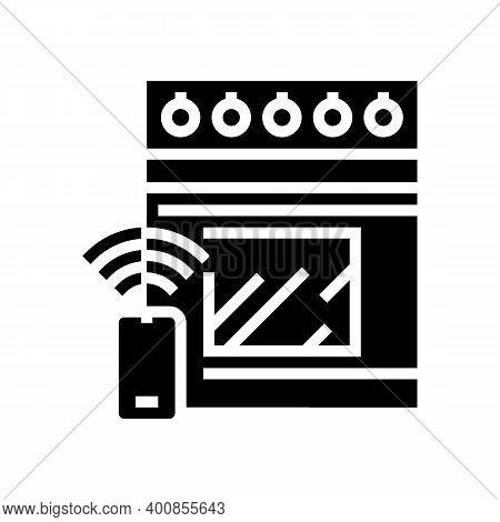 Kitchen Stove Remote Control Glyph Icon Vector. Kitchen Stove Remote Control Sign. Isolated Contour