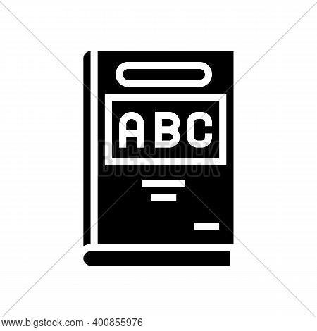 Abc Book Glyph Icon Vector. Abc Book Sign. Isolated Contour Symbol Black Illustration