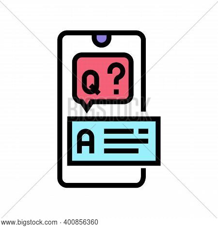 Question And Answer Color Icon Vector. Question And Answer Sign. Isolated Symbol Illustration