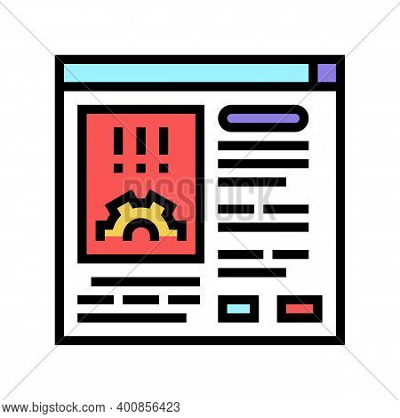 Errors Report Color Icon Vector. Errors Report Sign. Isolated Symbol Illustration