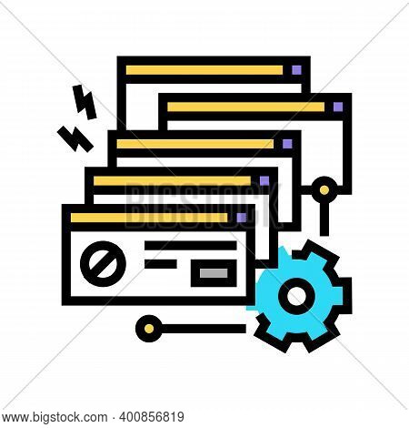 Crash System Color Icon Vector. Crash System Sign. Isolated Symbol Illustration