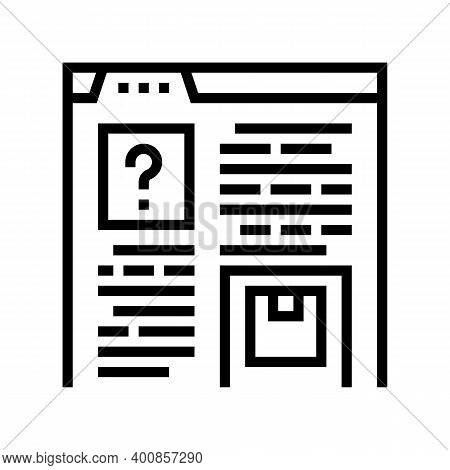 Product Characteristics And Review Line Icon Vector. Product Characteristics And Review Sign. Isolat