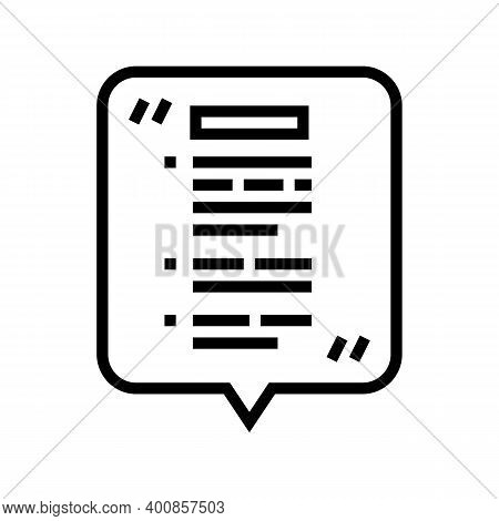 Oral Report Line Icon Vector. Oral Report Sign. Isolated Contour Symbol Black Illustration