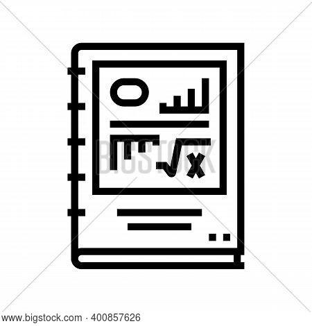Scientific Report Line Icon Vector. Scientific Report Sign. Isolated Contour Symbol Black Illustrati