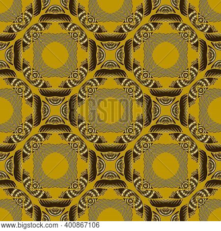 Modern Textured Geometric Seamless Pattern. Abstract Ornamental Vector Background. Grunge Repeat Dec
