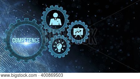 Internet, Business, Technology And Network Concept.virtual Screen Of The Future And Sees The Inscrip