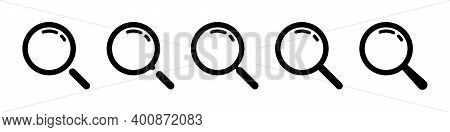 Search, Vector Icon. Search Symbols. Magnifying Glass Loupe Icons. Magnifying Glasses Symbols, Isola