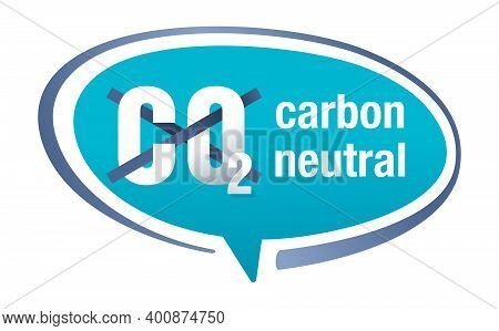 Co2 Free - No Carbon Dioxide Emissions Icon - Harmful Air Carbon Contamination Emblem With Smoking C