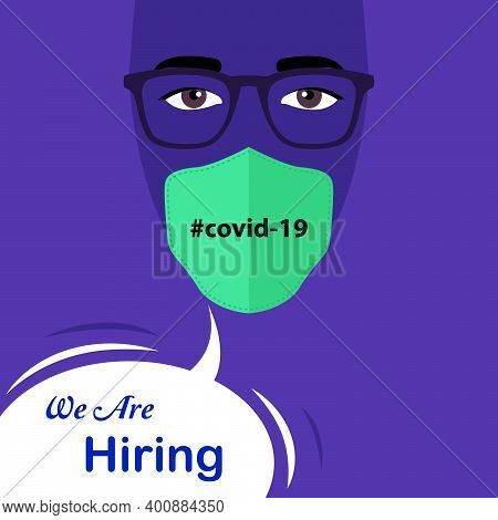 We Are Hiring - Flyer, Poster Advertisement For Job Seekers. Job Post Graphic For Social Media And W
