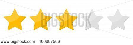 Three 3 Star Rank Background. Vector Illustration. Eps10