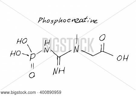 Phosphocreatine Chemistry Molecule Formula Hand Drawn Imitation