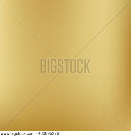 Gold Background Gradient Foil Vector Yellow Texture. Smooth Gold Gradient Blur Metallic