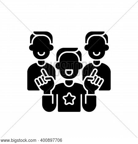 Evangelism Marketing Black Glyph Icon. Advanced Form Of Marketing In Which Companies Develop Custome
