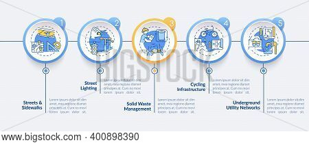 Utility System, Facility Service Vector Infographic Template. Telecommunication Presentation Design