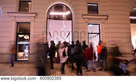 Warsaw, Poland. 25 December 2020. The Mclaren Logo Outside Store Located In Hotel Raffles Europejski