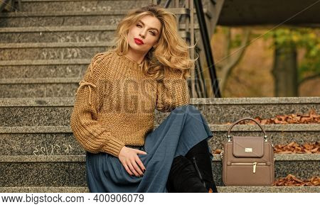 Fall Fashion Trend. Layer Oversize Knit Over Girly Skirt. Wearable Trends. Fall Outfit Formula. How