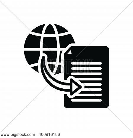Black Solid Icon For Document Transfer Shifting Transference Displacement Transferal Share Connectio