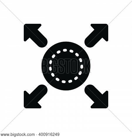 Black Solid Icon For Expand Enlarge Grow Extend Spread Arrow Fullscreen Widen Maximize