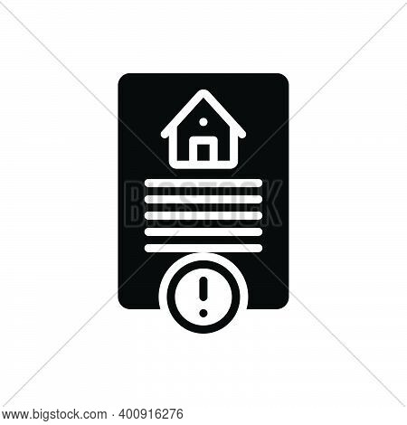 Black Solid Icon For Risk Hazard Peril Danger Riskiness Property Home Calm Legal Paper