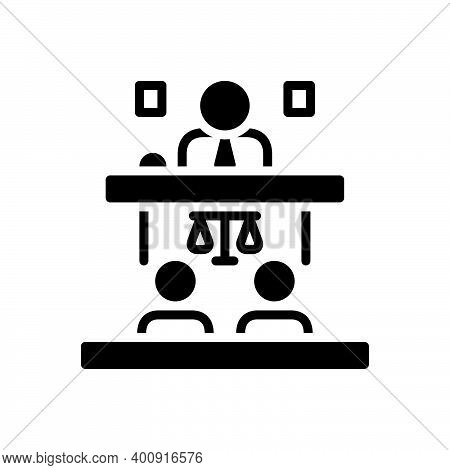 Black Solid Icon For Appeal Cassation Proclamation Public-speaker Convention Adminstrative Judge