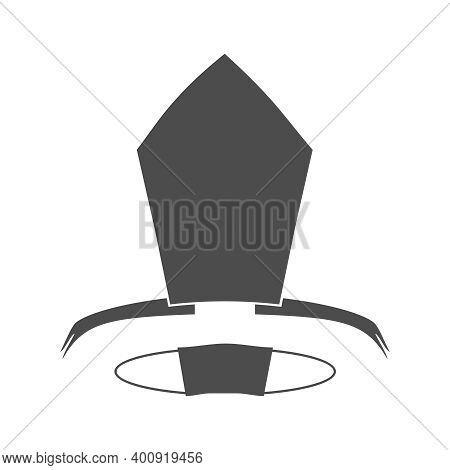 Bishop Mitre And Medical Mask. Catholic Hat Icon.