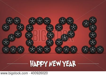 Happy New Year. 2021 Made From Car Wheels