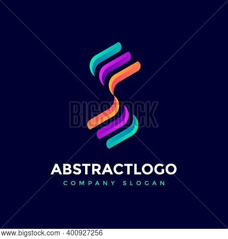 Business Logo S Letter Colorful Template Design Creative Vector. Unique And Modern Alphabet S Type I