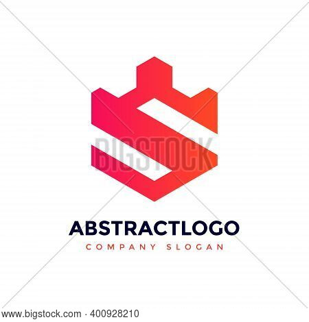 Letter S Logo Icon Design Template Elements, Initial Letter Logo S Inside Polygon Shape, S Alphabeti