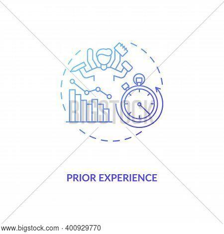 Prior Experience Concept Icon. Human Factor In Ergonomics Idea Thin Line Illustration. Decision Maki