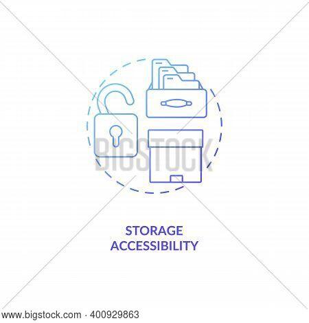 Storage Accessibility Concept Icon. Control Room Ergonomics Idea Thin Line Illustration. Equal Acces