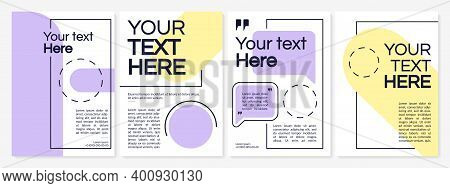 Creative Brochure Template In Simple Minimalistic Design. Business Catalog. Flyer, Booklet, Leaflet