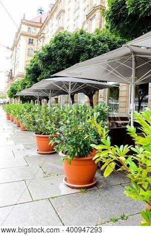 DRESDEN, GERMANY - July 23, 2017: Restaurants in Dresden, Germany