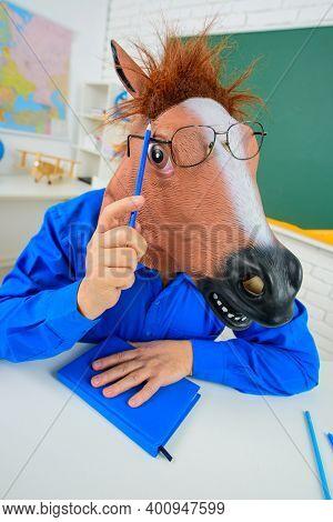 Funny Teacher. Back To School. Crazy Teacher. Education. School Job. Bearded Teacher. Teachers In Cl