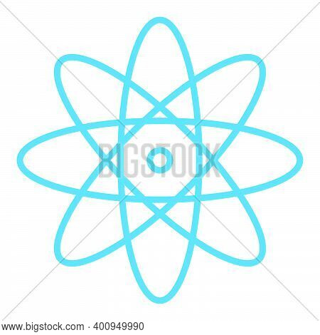 Atom Icon Illustration Simple Atom Medical Symbol