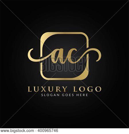 Initial Ac Letter Logo Design Vector Template. Creative Luxury Letter Ac Logo Design