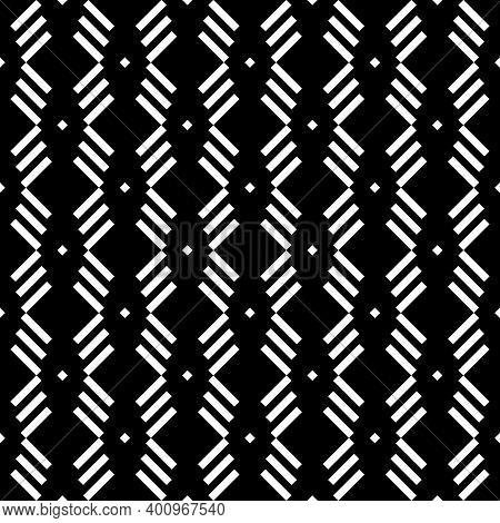 Seamless Pattern. Angled Stripes, Rhombuses Motif. Slanted Dashes, Squares Background. Diagonal Line