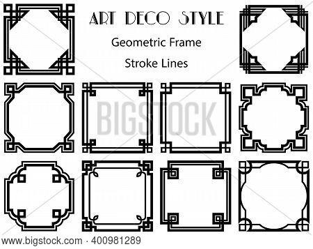Frames Simple Classic Set. Basics Element Of Decor. Square Panels Picture Border Frames. Collection