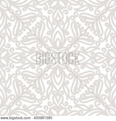 Seamless Grey Pattern Background. For Christmas And Invitation Cards Decoration Cover And Fabric Des