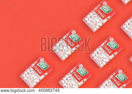 Many Tic Tac Candy Packages With Coca-cola Taste. Tic Tac Is Popular Due Its Minty Fresh Taste And E