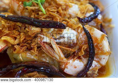 Deep Fried Shrimp With Tamarind Sauce,fried Shrimp With Tamarind Sauce. Seafood Thailand Is So Delic