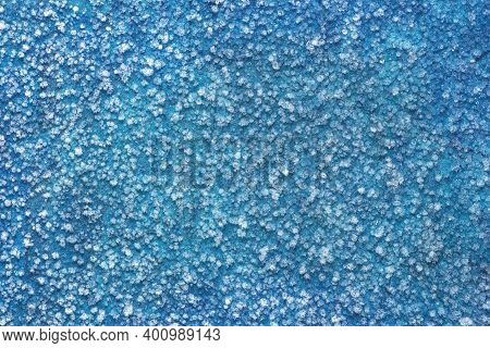 Abstract Frozen Ice Background.frozen Raindrops, Freezing Rain Close-up.winter Abstract White And Bl