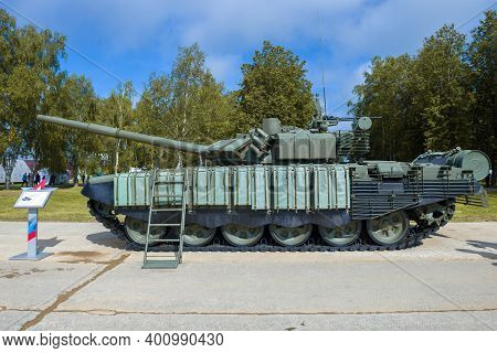 Alabino, Russia - August 25, 2020: The Main Tank Of The Russian Army T-72b3 With Improved Combat Cha