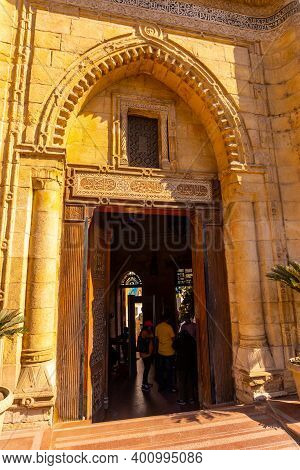 Cairo, Egypt; October 2020: Local Egyptian People At The Hanging Church Or Saint Mary Church In The