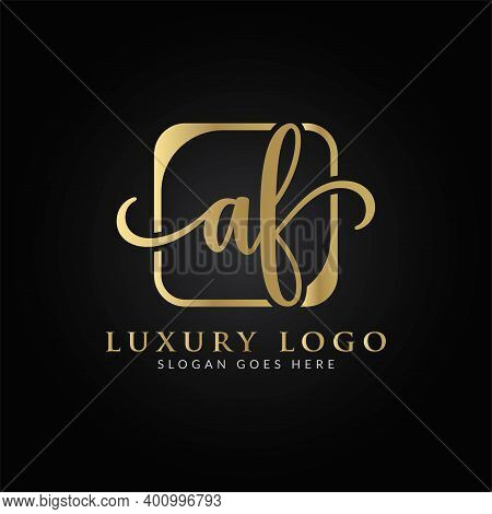 Initial Af Letter Logo Design Vector Template. Creative Luxury Letter Af Logo Design