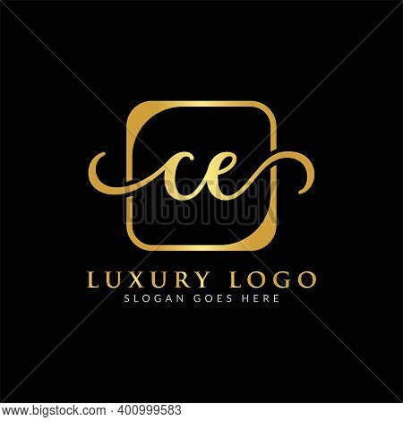 Initial Ce Letter Logo Creative Modern Typography Vector Template. Creative Luxury Letter Ce Logo Ve