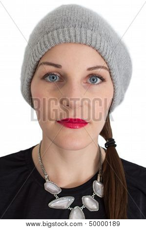 Woman With A Red Lipstick