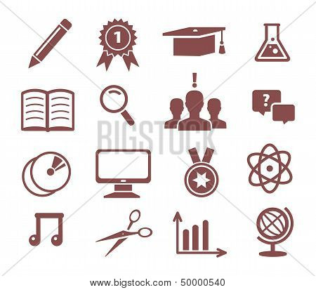Vector illustration of Education icons set